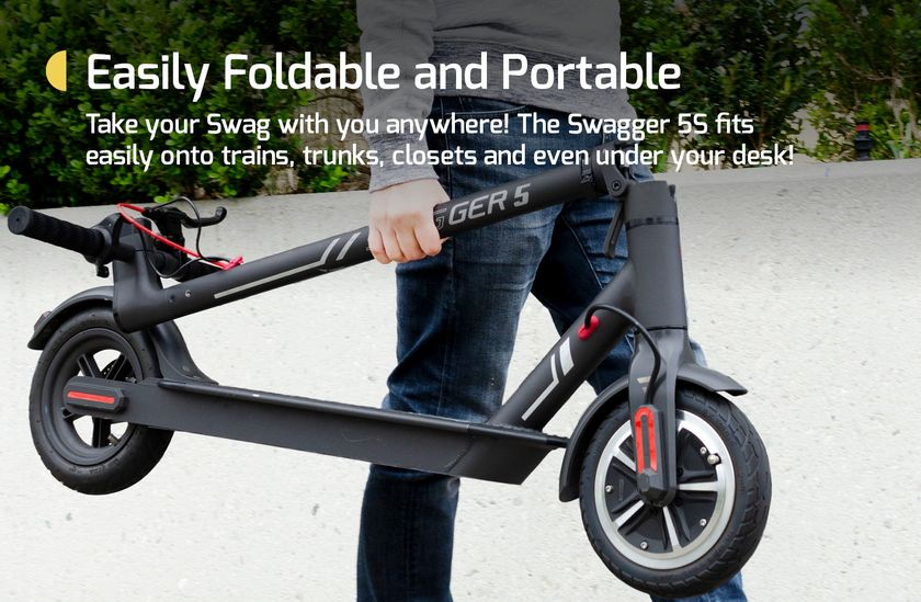 swagtron city commuter folded