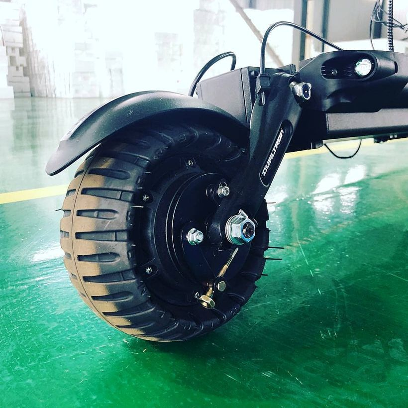 Dualtron Compact 8 inch tall and 3.5 inch wide tires