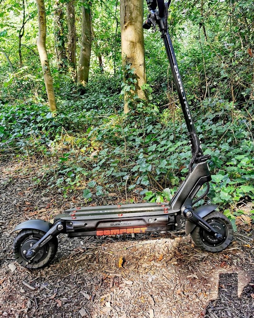 Dualtron Compact Off-Roading on Forest Trail