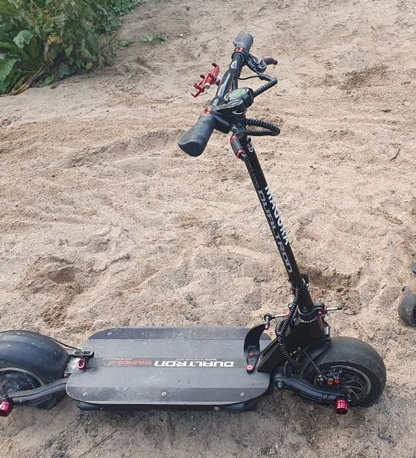 Dualtron Thunder Off Road on Sand