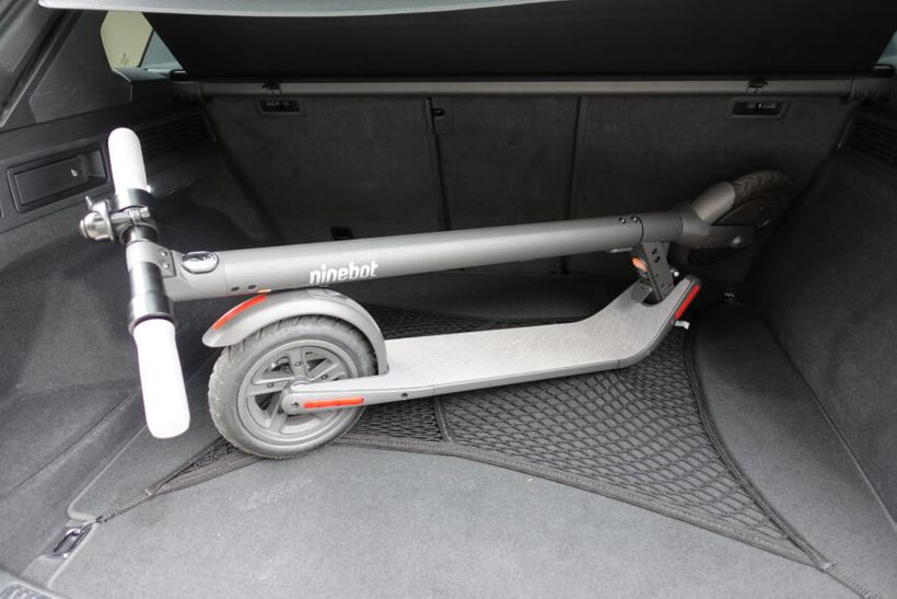 Segway Ninebot E22 Folded in Trunk
