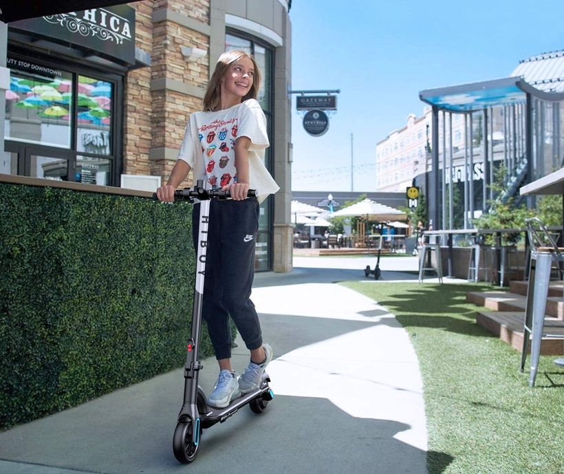 Girl Riding the Hiboy NEX
