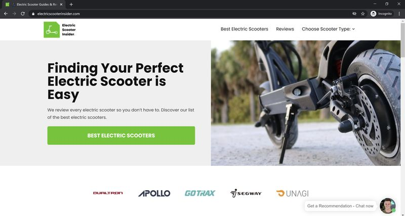 Electric Scooter Insider Homepage
