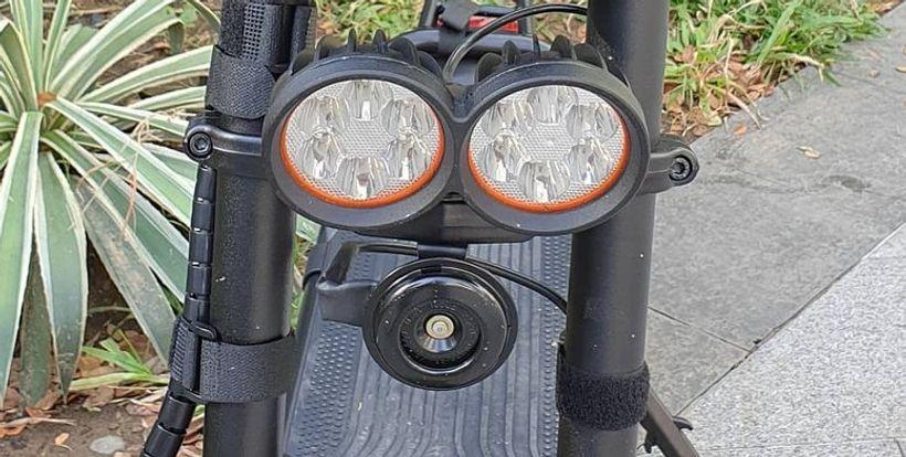 Close up of Wolf Warrior Dual Headlights