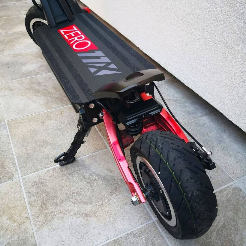 Zero 11X Rear Suspension and Large Tires