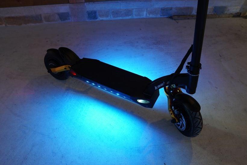 Mantis Pro SE Deck Lights Illuminating the Ground Below