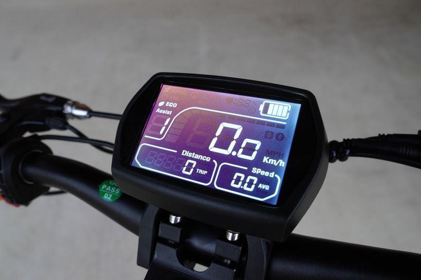 Close up of Kugoo G2 Pro Intuitive Display
